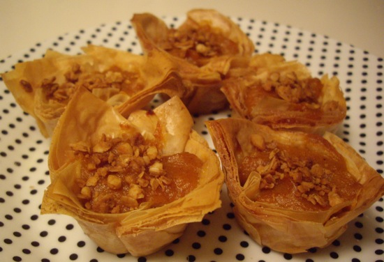 Pumpkin Pie with Baklava Twist