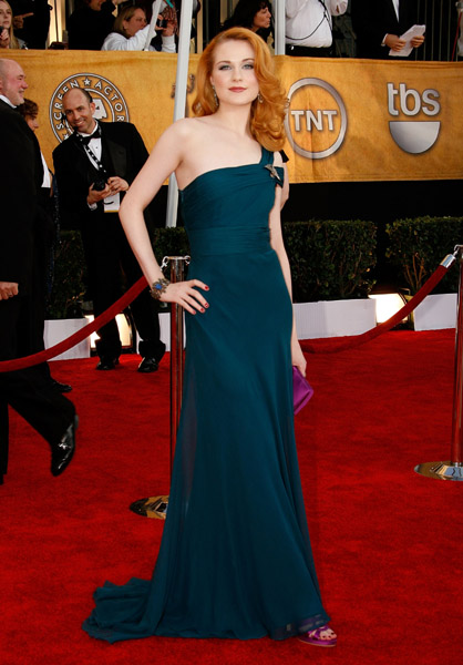 Evan Rachel Wood in Monique Lhuillier