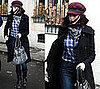 Anne Hathaway Roams Barcelona Spain in Burberry Newsboy Cap