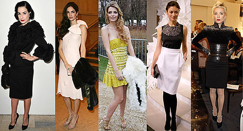 Celebrities at Paris Couture Week