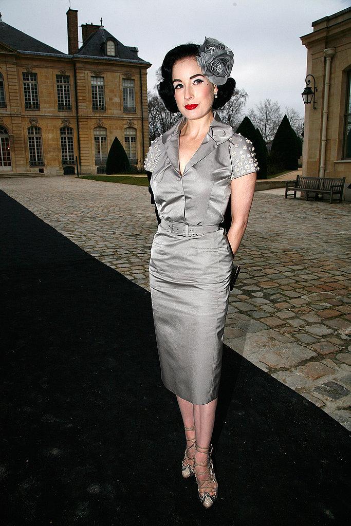 Dita Von Teese at Christian Dior