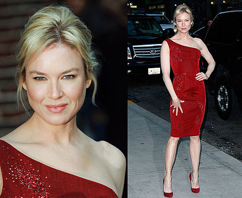 Photos of Renee Zellweger at David Letterman Show In New York City