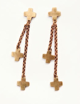 The Look For Less: Robert Lee Morris for Elizabeth and James Cross Earrings