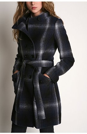 Charlotte Ronson Check Coat