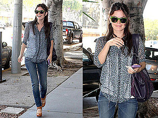 Rachel Bilson Shops at Barneys New York in LA