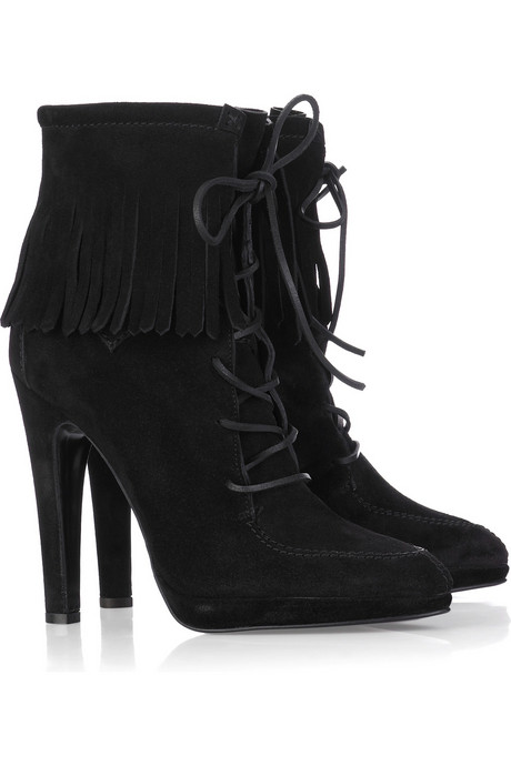 Guiseppe Zanotti Fringed Leather Boots