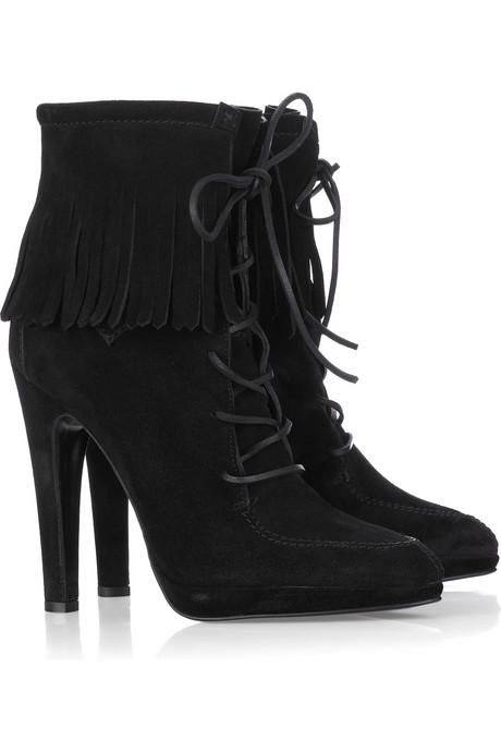 Guiseppe Zanotti Fringed Leather Boots