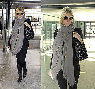 Gwyneth Paltrow Wears Bottega Veneta Boots at the Airport