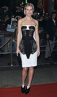 Gwyneth Paltrow Attends Two Lovers Premiere in a Sheer Lace Antonio Berardi Dress and Rupert Sanderson Shoe Boots