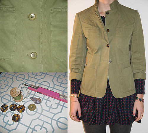 She's Crafty: New Buttons, New Jacket