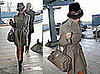 Victoria Beckham Leaves Heathrow Airport in a Trench Coat, Fedora, and Hermes Birkin Bag
