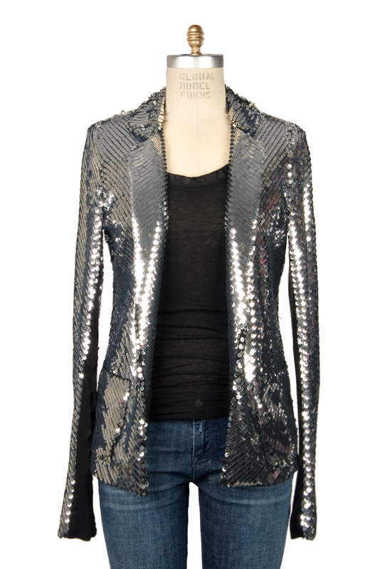 Les Chiffoniers Sequin Single Breasted Jacket