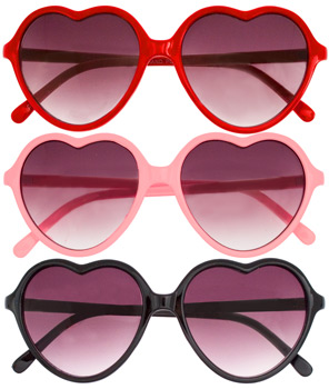 Hard Candy Heart Sunnies ($11)