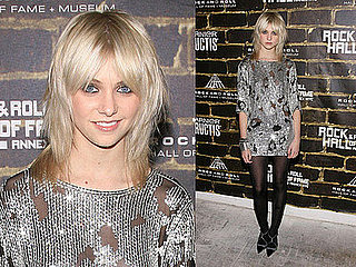 Gossip Girl Taylor Momsen Attends Rock and Roll Hall of Fame ANNEX NYC Grand Opening In Alexander Wang Dress and Balenciaga Pump