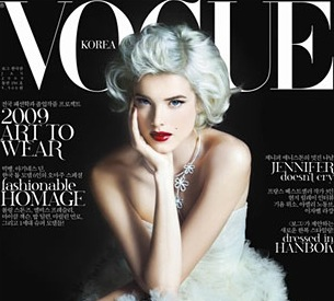 Fab Cover: Agyness Deyn for Vogue Korea