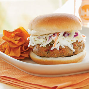 Chipotle Barbecue Burgers With Slaw