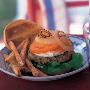 Red-Lentil Burgers With Aioli