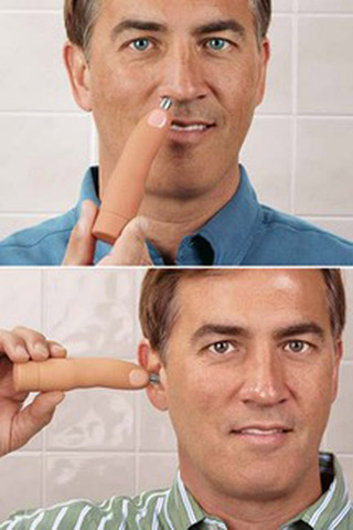 Finger-Shaped Nose and Ear Hair Trimmer