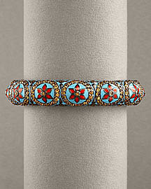 Matthew Campbell Laurenza Thin Enamel Bangle- Matthew Campbell Laurenza- 