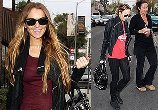 Photos of Lindsay Lohan in LA, Reports of Her Physically Fighting with Samantha Ronson on New Year's Eve