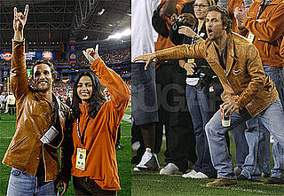 Photos of Matthew McConaughey and Camila Alves at Fiesta Bowl in Arizona