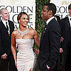 Photo of Jay-Z and Beyonce Knowles at the Golden Globes