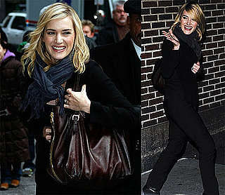 Photos and Video of Kate Winslet on David Letterman's The Late Show