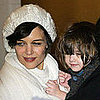Photos of Katie Holmes and Suri After Katie's last Performance in All My sons