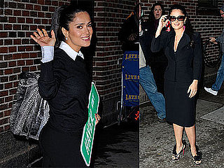 Photos and Video of Salma Hayek on David Letterman January 2009