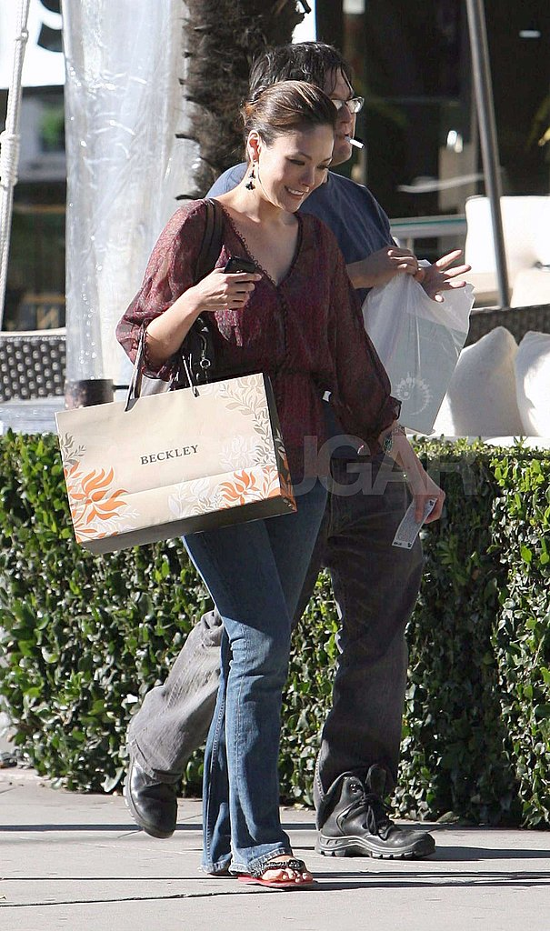 Lindsay Price Shops in LA