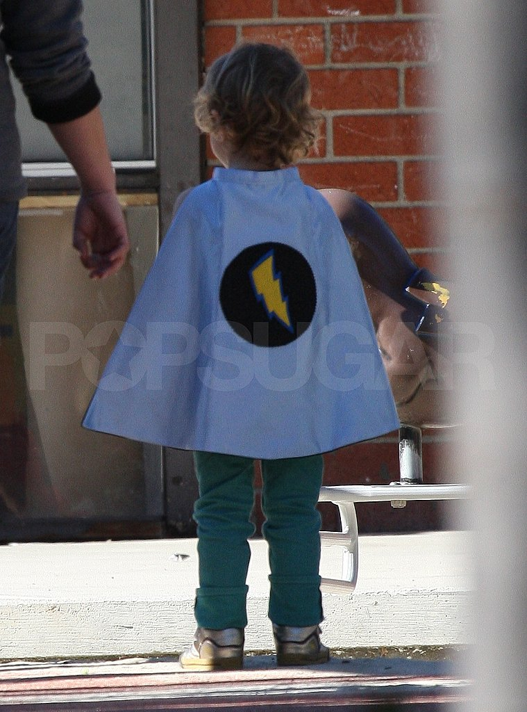 Kingston Dressed as a Superhero