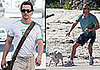 Photos of Matthew McConaughey Running With His Dog on the Beach