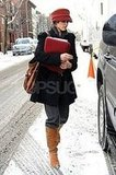 Rachel McAdams in Snowy Brooklyn