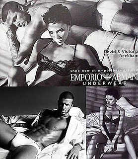 David Beckham and Victoria Beckham Together For Armani Underwear