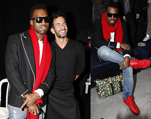 Kanye Debuts Colorful Shoes and Language