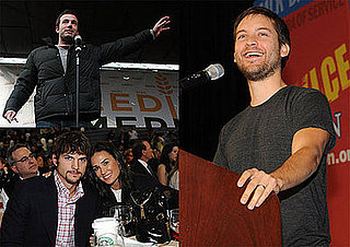 Ben Affleck, Tobey Maguire, Demi Moore, Ashton Kutcher in DC ahead of Obama's Inauguration