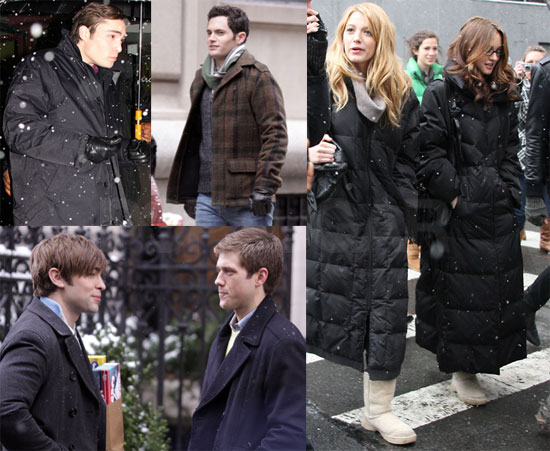Snowy Day on Gossip Girl Set
