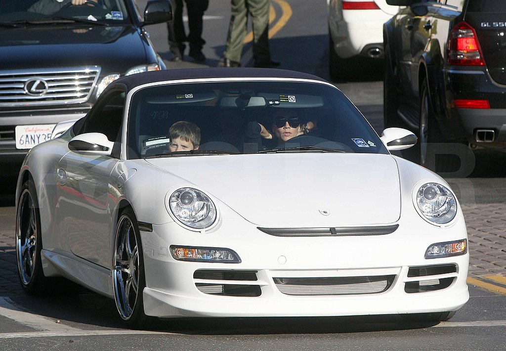 Victoria Beckham Driving the Boys