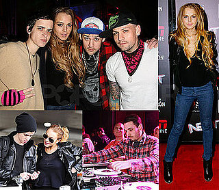 Photos of Lindsay Lohan and Samantha Ronson Partying in Florida Before the Super Bowl