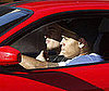 Photo of Chris Brown Driving His Red Ferrari