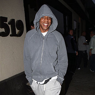 Jay-Z Smiles in Santa Monica