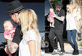 Nicole Richie and Joel Madden Take Out Baby Harlow