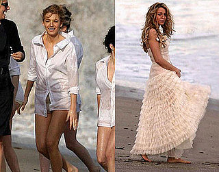 Blake Gets Lively on the Beach Before the Costume Gala!