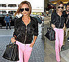 Victoria Beckham Keeps Up Her Stylish Jet-Setting