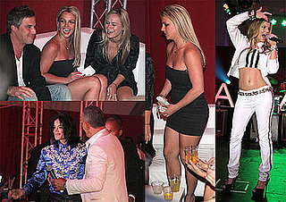 Photos of Britney Spears And Michael Jackson At Christian Audigier's 50th Birthday