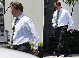 Matt Damon on the Set of The Informant