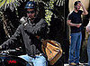 Keanu Reeves Rides His Motorcycle in LA, Gets a Package