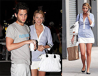 Photos of Blake Lively and Penn Badgley at Starbucks in NYC