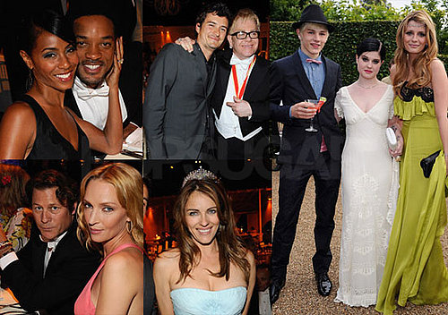 Photos of Orlando Bloom, Will Smith, Bill Clinton, Uma Thurman at Elton John's White Tie and Tiara Ball in honor of Elton John's