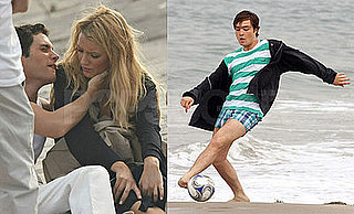 Photos of Blake Lively and Ed Westwick Filming on Tilden Beach